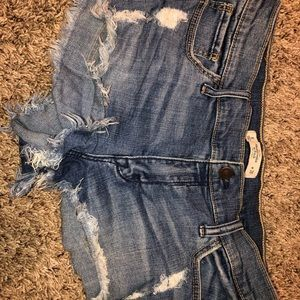abercrombie and fitch high waisted jean shorts